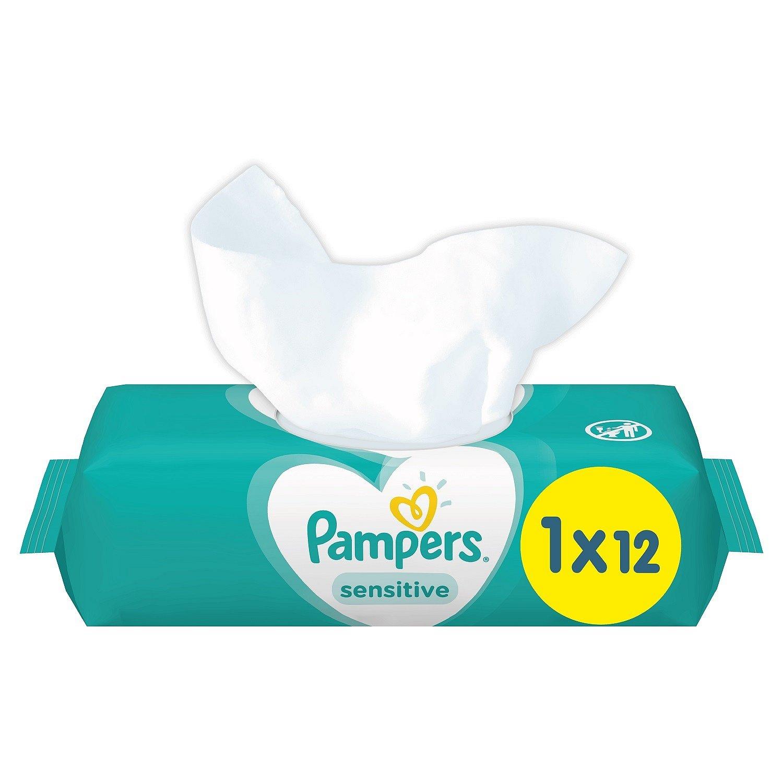 PAMPERS Sensitive 12 ks - vlhčené ubrousky