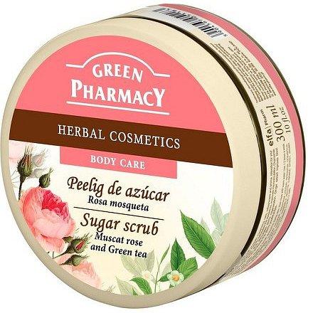 Cukrový peeling Muškát.růže a Zelený čaj 300 ml