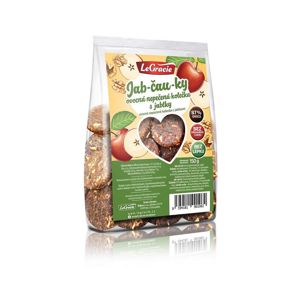 LEGRACIE Ovocné nepečené sušenky Jab-čau-ky 150 g