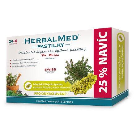 HerbalMed Dr.Weiss pasilky Isl.lišejník+tymián 24+6 ks