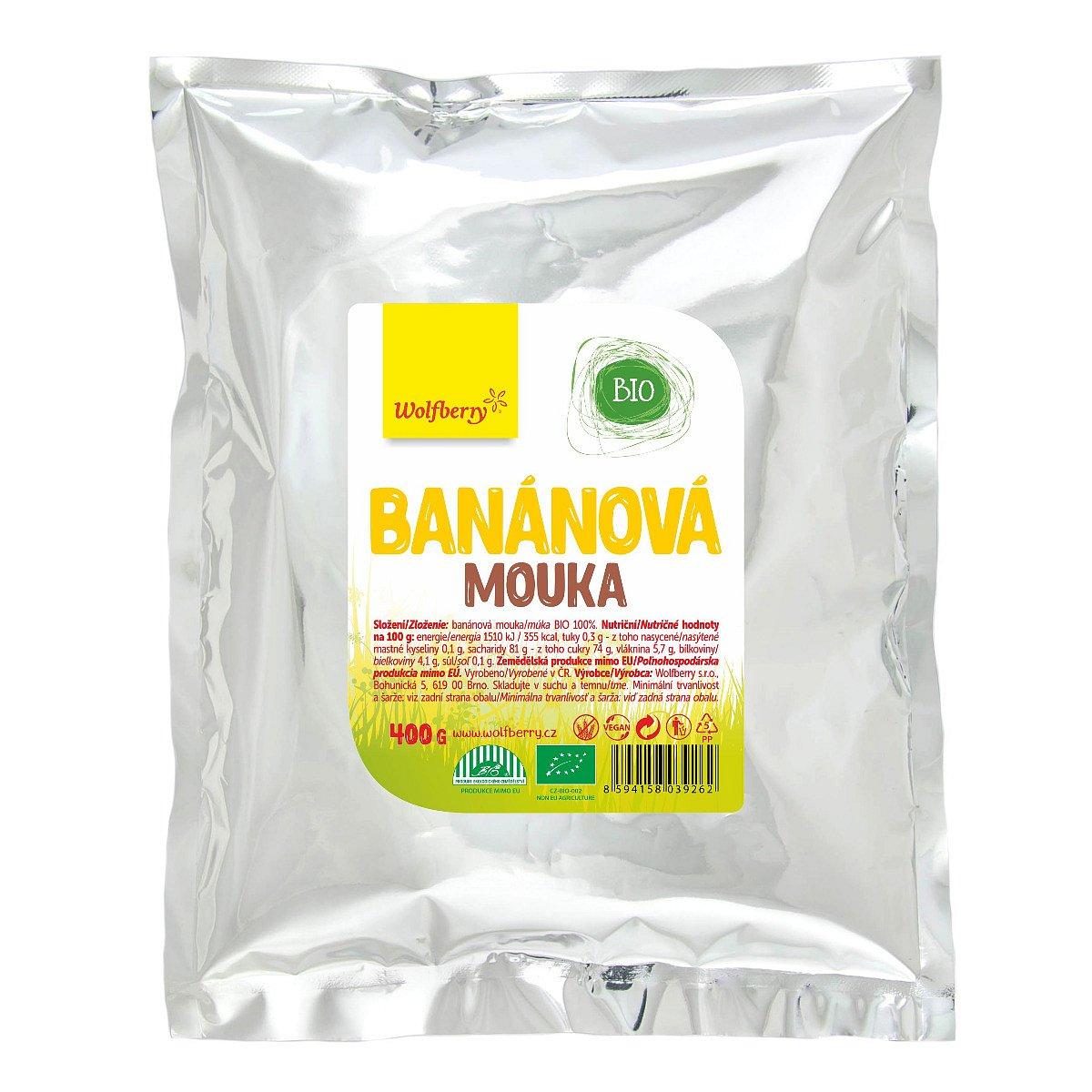 Wolfberry BIO Banánová mouka 400 g