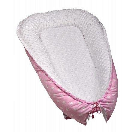 Hnízdečko pro miminko MINKY, pink / stars