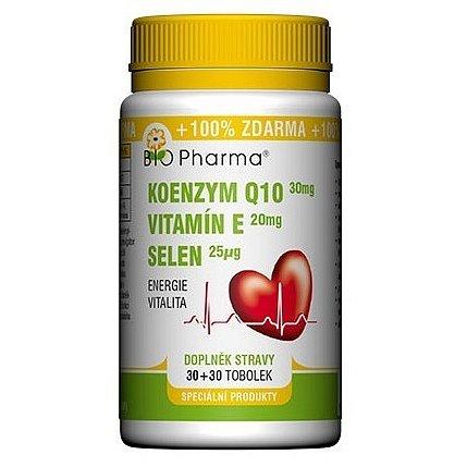 Koenzym Q10 30mg + Vitamín E 20mg + Selen 25mcg 30+30 tbl.