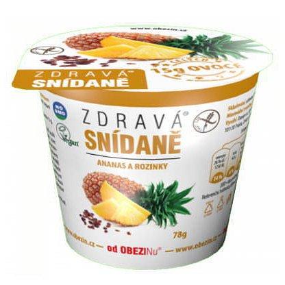 Obezin zdravá snídaně - Ananas a rozinky