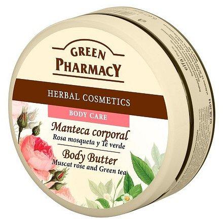 Tělové máslo Muškát.růže a Zelený čaj 500 ml
