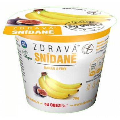 Obezin zdravá snídaně - Banán a fíky