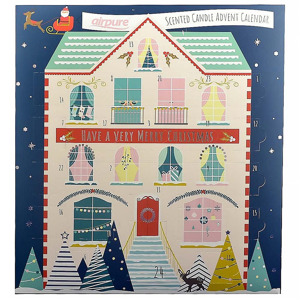 AIRPURE Adventní kalendář se svíčkami Dům