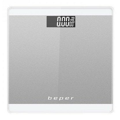 BEPER 40822SIL digitální osobní dotyková skleněná váha do 180kg