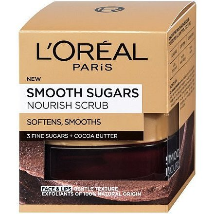 L´Oréal Paris Smooth Sugars jemný vyživující cukrový scrub pro výživu pleti 50ml