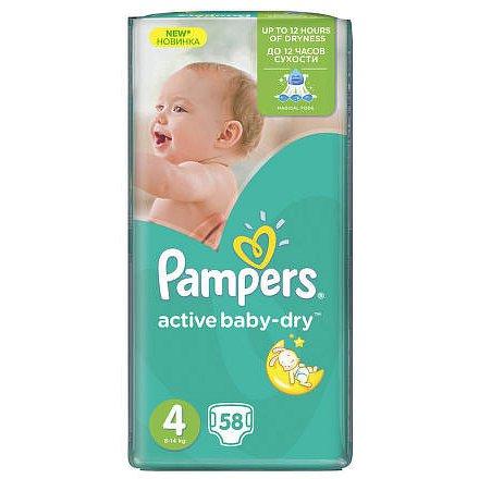 PAMPERS Active Baby Maxi VPP Maxi 7-14kg 58ks
