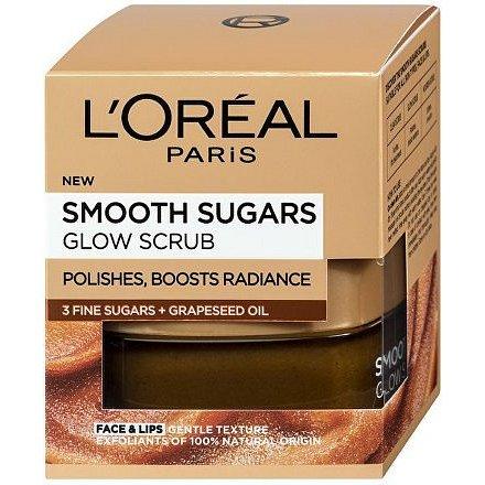L´Oréal Paris Smooth Sugars jemný rozjasňující cukrový scrub pro rozjasnění pleti 50ml