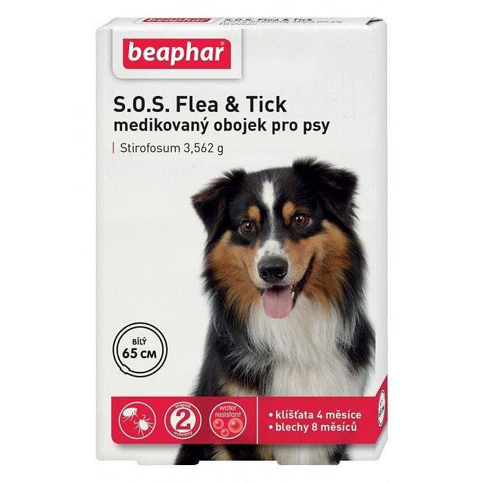 BEAPHAR Antiparazitní obojek pro psa SOS Flea & Tick 65 cm
