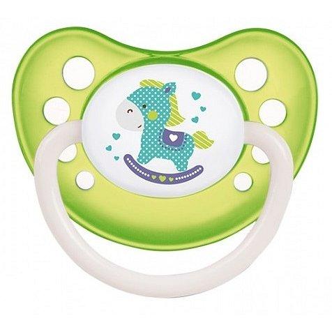CANPOL BABIES C - Dudlík silikonový anatomický 18m+ Toys – zelený