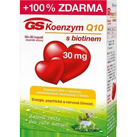 GS Koenzym Q10 30 mg orální tobolky 30 + 30