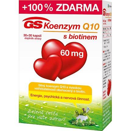 GS Koenzym Q10 60mg 30+30 kapslí