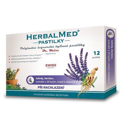 HerbalMed Dr.Wiess pastilky Šalvěj-ženšen 12 ks