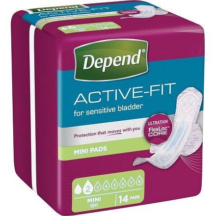 Inkontinenční vložky Depend Active-Fit Mini 14ks