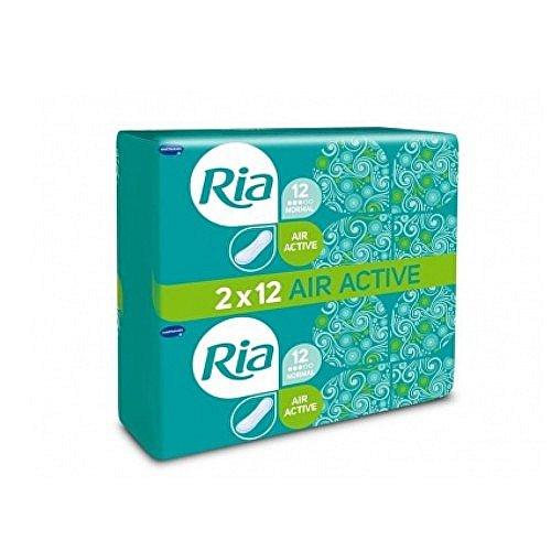 Ria Air Active Normal dámské hygienické vložky bez křidélek duopack 2 x 12 ks