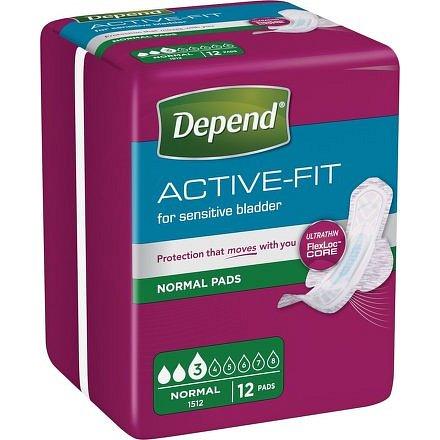 Inkontinenční vložky Depend Active-Fit Normal 12ks