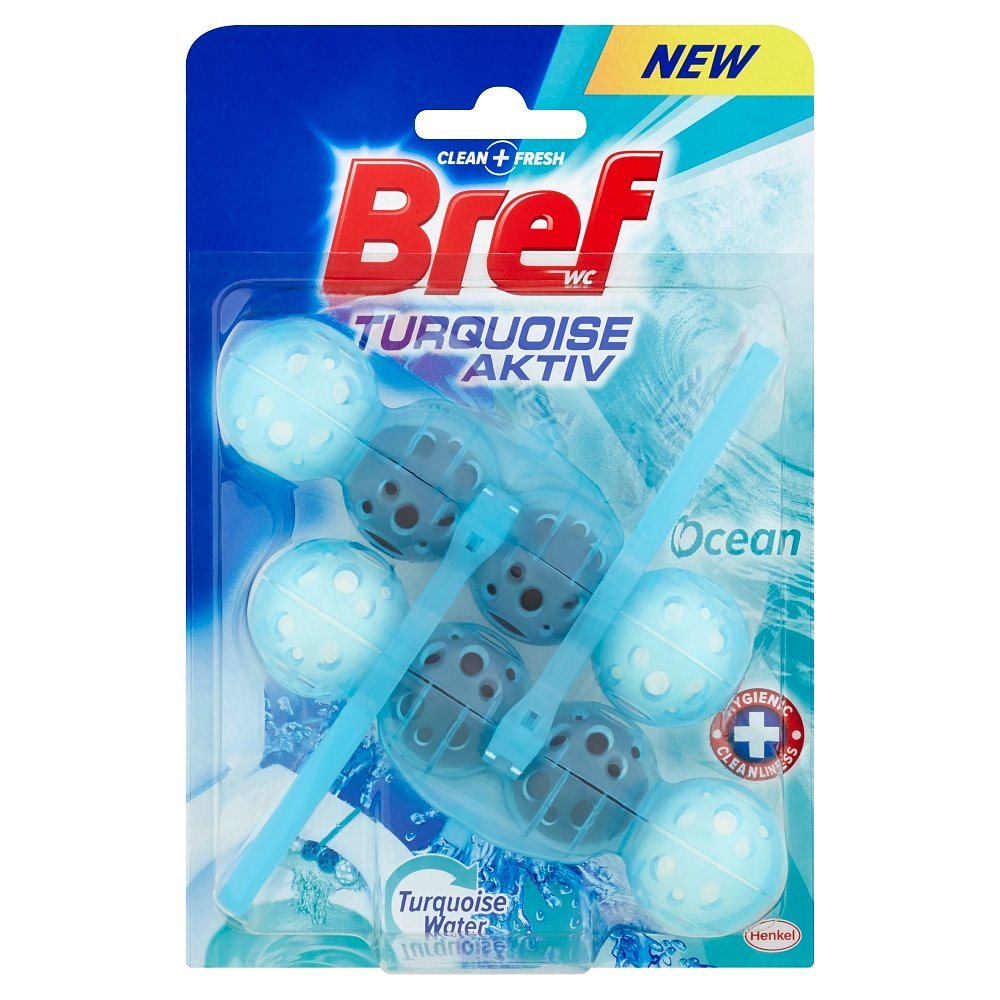 BREF Turquoise Aktiv Ocean tuhý WC blok 2x50 g