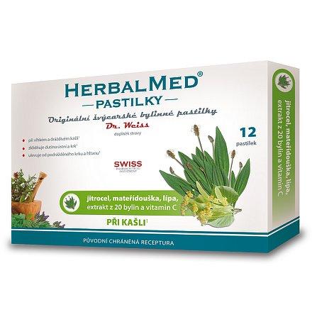HerbalMed Dr.Weiss pastilky Jitrocel-mateřídouška-lípa 12 ks