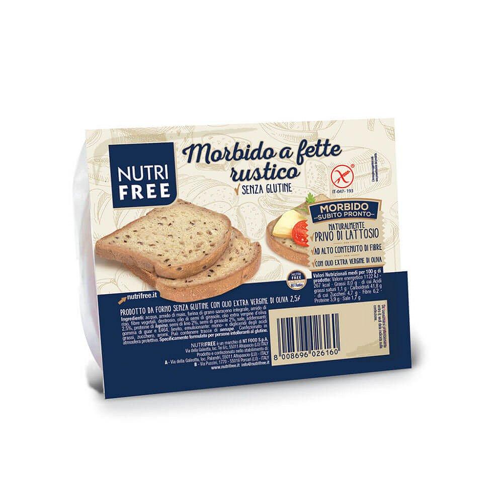 NUTRIFREE Toastový chléb celozrnný 165 g VÝPRODEJ exp. 31. 01. 2018