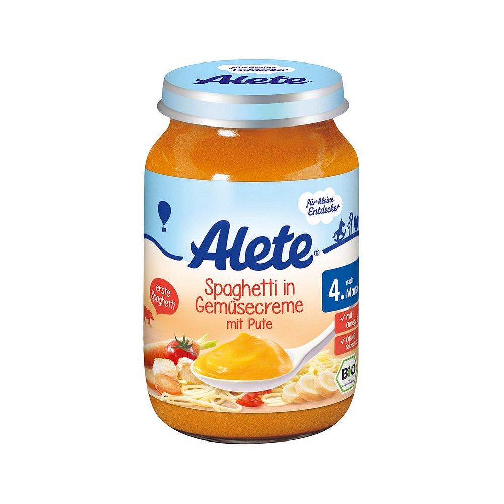 ALETE Bio Špagety se zeleninovou omáčkou a krůtím masem 190 g