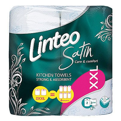 Kuchyňské utěrky LINTEO Satin 2-vrstvé 2ks XXL