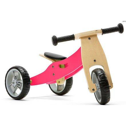 Nicko Dřevěné odrážedlo 2v1 mini - růžové