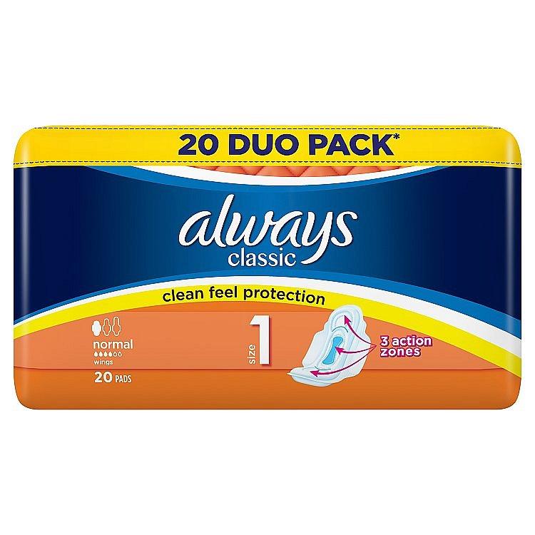 Always Classic Normal hygienické vložky 20 ks