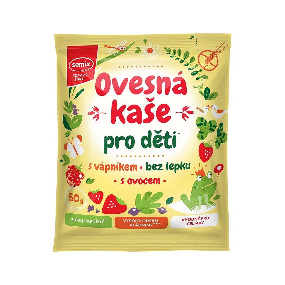 SEMIX Ovesná kaše pro děti s vápníkem a ovocem 65 g