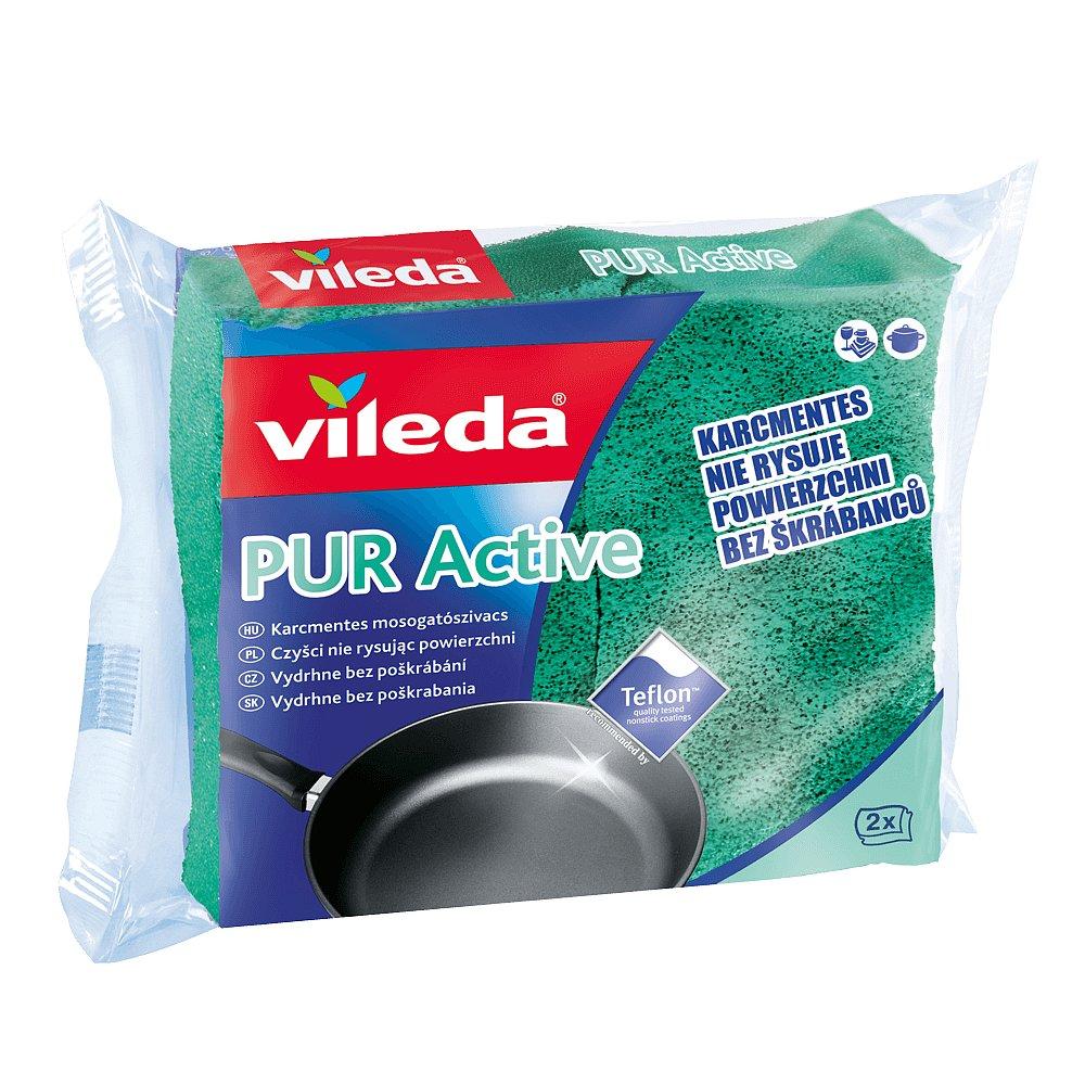 VILEDA PUR active houbička teflon (2ks/fol)