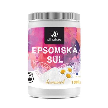 Allnature Epsomská sůl Heřmánek 1000 g