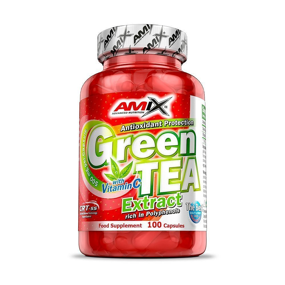 Amix Green TEA Extract with Vitamin C, 100cps