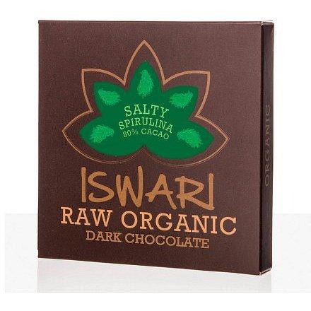 Čokoláda Dark slaná spirulina 80% 75g
