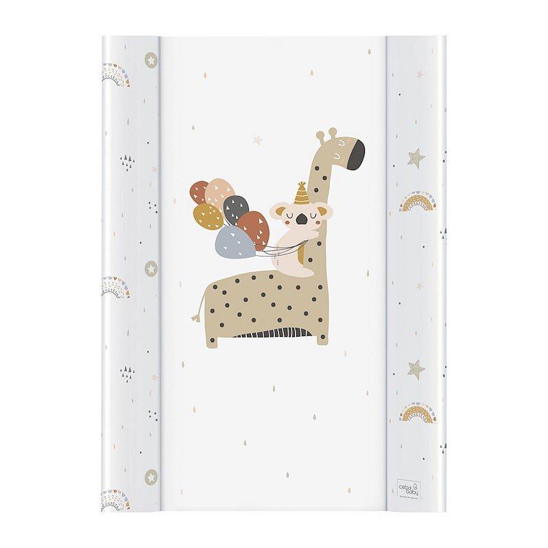 CEBA Podložka přebalovací 2-hranná MDF 50 x 70 cm Giraffe