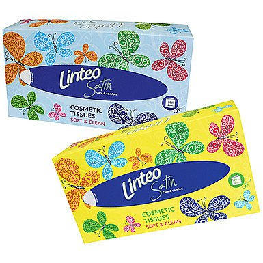 Linteo Satin papírové kapesníčky v krabičce 2-vrstvé 100 ks
