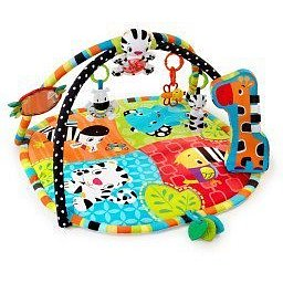 Deka podporující vývoj s hrazdou a hračkami Spots & Stripes Safari™ (0 m+)
