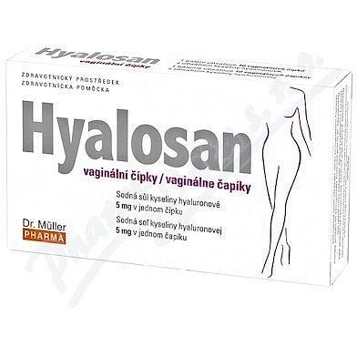 Hyalosan vaginální čípky 10ks Dr.Müller