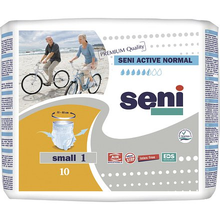 Seni Active Normal Small 10ks ink. plenk. kalhotky