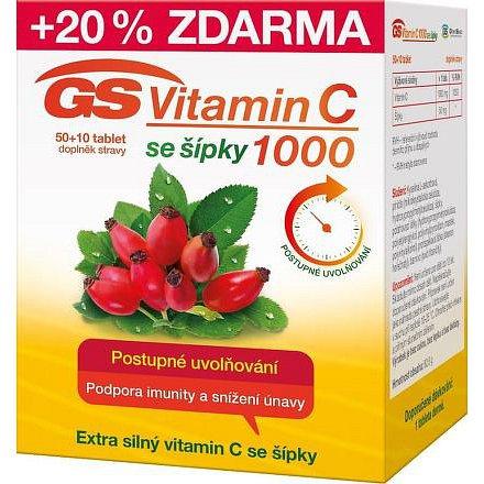 GS Vitamín C 1000 se šípky tablety 50+10 2016