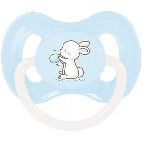 CANPOL BABIES A - Dudlík silik. symetrický 0-6m LITTLE CUTIE - modrá