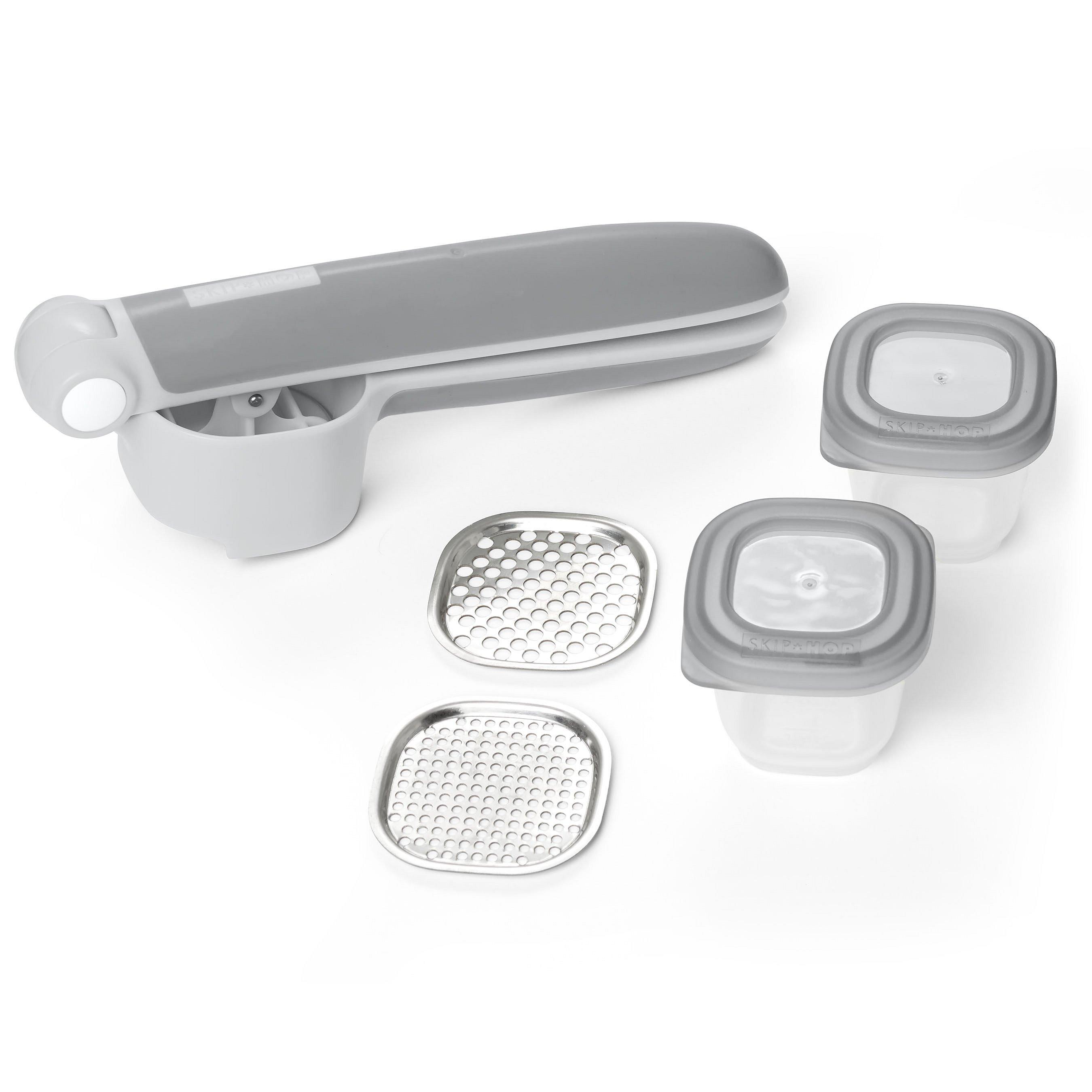 SKIP HOP Set na přípravu jídla Easy Prep - lis s 2 nástavci a 2 nádobkami 60 ml