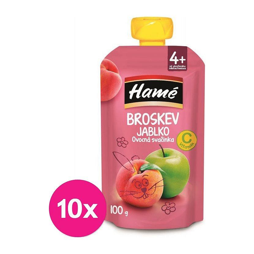 10 x HAMÁNEK Ovocná svačinka broskev 100 g