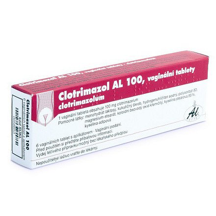 Clotrimazol AL 100 tablety vag. 6 x 100 mg+apl.