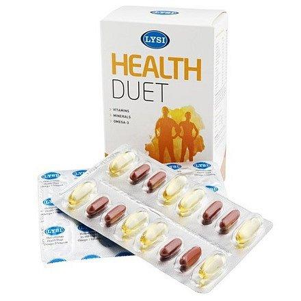 LYSI Health duet Kombinace s omega 3, vitamíny a minerály 64cps
