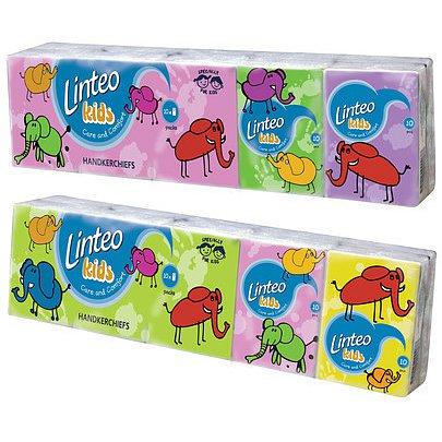 Kapesníčky LINTEO Kids 10x10ks 3-vrstvé Mini