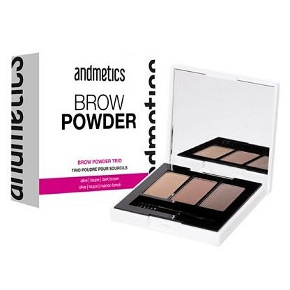 andmetics Brow Powder Trio paletka na obočí