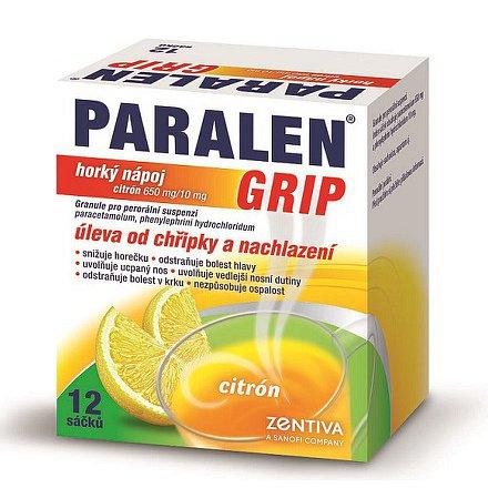 Paralen Grip Horký Nápoj Citrón 12 sáčků