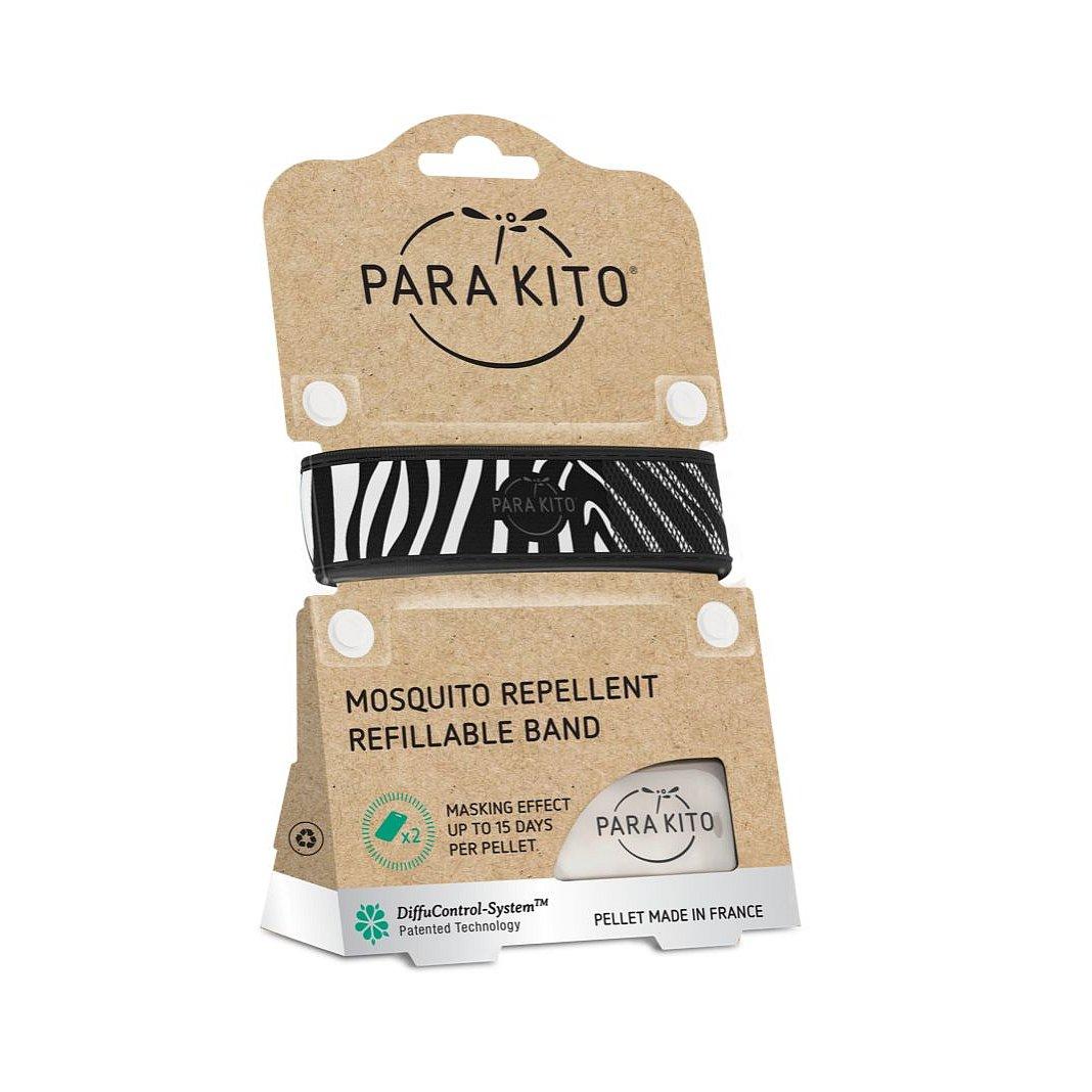 PARAKITO Náramek proti komárům Zebra 1 ks + 2 náplně